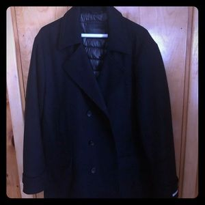 Men's Calvin Klein navy blue wool pea coat XXL